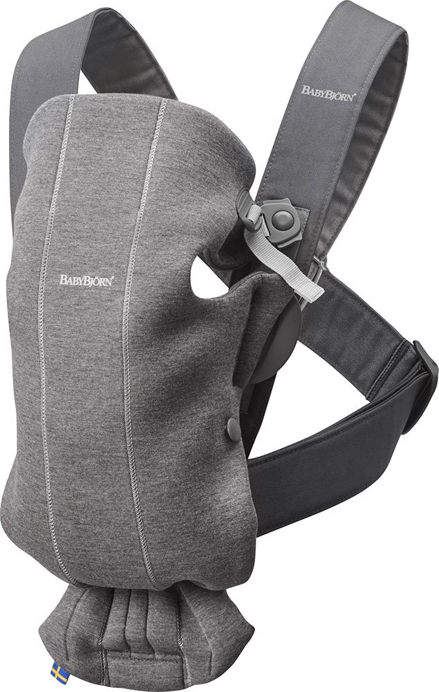 BABYBJÖRN Baby Carrier Mini, 3D Jersey,  Dark Grey Baby Bjorn Perfect first baby carrier for a new-born Small and easy to use 3D Jersey - Our newest and softest material is as snug as your comfiest T-shirt 1