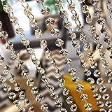 MOHOO Perlenvorhang mit achteckigen Kristallen