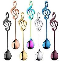 MINGZE 7 Pièces En Acier Inoxydable Mini Musique Symbole Cuillère, Cuillère à Café Créatives Cuillère à Thé Cuillère à…