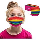 50/100pcs Kinder Face Mund Einweg 3-lagig Atmungsaktiv Cartoon für Jungen und Mädchen Outdoor Anti-Staub Bandana Loop