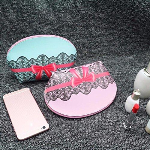 Bzline® Portamonete Con Pochette Piccola In Pelle Per Donna In Pelle Borsa Cosmetica C
