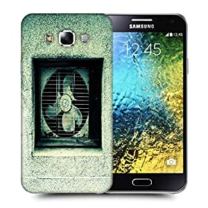 Snoogg Broken Ventilation Fan Printed Protective Phone Back Case Cover ForSamsung Galaxy E5