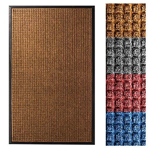 Casa Pura® Eingangsmatte | geprägt Fußmatte vorne | Innen und Außenbereich Eintrag Teppich | viele Farben & Größen, 36 Inches X 60 Inches, braun -