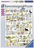 Ravensburger 19391 - 101 Katzen und 1 Maus, 1000 Teile Puzzle