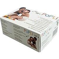"""POPOLINI - Carta assorbente per pannolini di tessuto """"Popli"""", colore: bianco"""