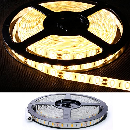 Preisvergleich Produktbild DM 5 Meter SMD 5630 hell LED Strip in warmweiß, 60 LEDs/M IP20, effektvolle Hintergrundbeleuchtung für z.B. Wohnzimmer, Küche und Flur