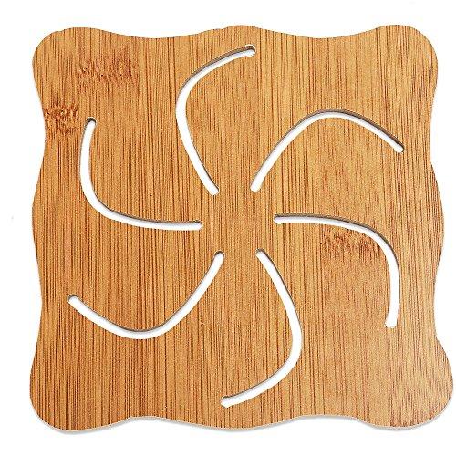 Anwaz Lovely Hollow Wooden Carved Coaster Hitze-isolierte Anti-Rutsch-Cup Mat Küche Geschirr A03 - Carved Wooden Coaster