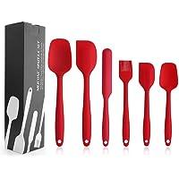 EKKONG Spatule Silicone de Cuisine Set de 6 Spatule en Silicone Résistant à la Chaleur pour Cuisiner Spatule Pâtisserie…