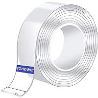 BONDWET Nano Double Sided Tape Heavy Duty Transparent Traceless Double Sided Tape Nano Washable Adhesive Tape Reusable…
