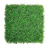 """ULAND Recinzione artificiale, Siepe di bosso verde, Schermata di foglia finta Giardino domestico Schermi naturali all'aperto Decorazione, Confezione da 12 pezzi 20 """"x 20"""" Bosso verde chiaro"""