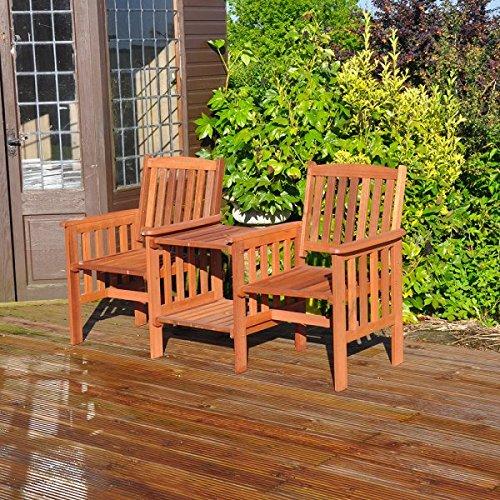 Kingfisher FSLOVE Hardwood Love Seat - Wood