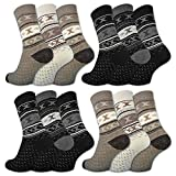 6 oder 12 Paar Damen THERMO Socken Vollfrottee Winter Damensocken Baumwolle - 38766 - sockenkauf24 (35-38, 12 Paar | Farbmix)