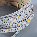 Mextronic LED Streifen LED Band LED Strip 5050 RGB+Warmweiß (2700K) 72W 500CM 24V IP20