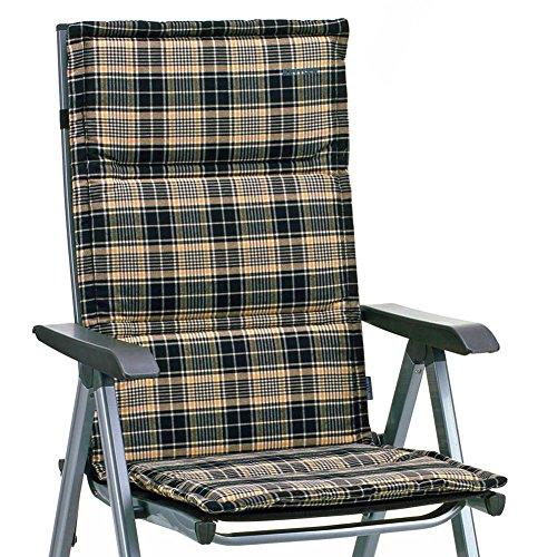 6 Kettler Dessin 776 Auflagen für Hochlehner in schwarz kariert (ohne Sessel)