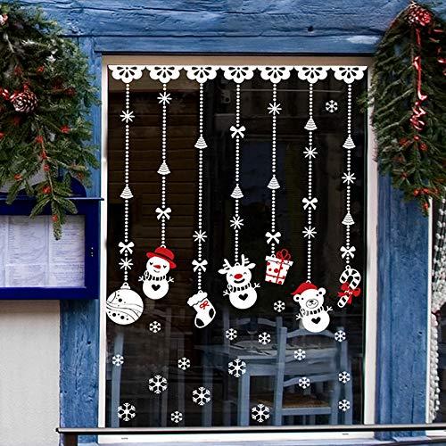 Yzybz Hot 1 Stück 60 * 90 Cm Weihnachten Schnee Ball Wand Fenster Aufkleber Removable Home Weihnachten Vinyl Wandtattoo Decor ()