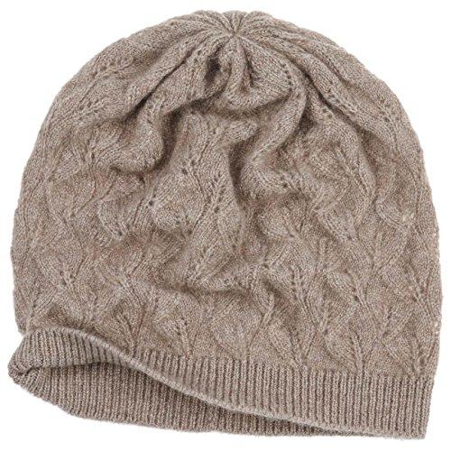 Bonnet en Cachemire Lasuna Seeberger bonnet en tricot beanie beige fonce