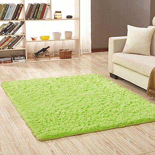 Fousamax - Alfombra de Felpa para Dormitorio o Dormitorio, Suave, Antideslizante, Rectangular, 120 x 80 cm, Fruit Green, 80 * 120cm