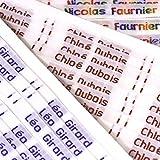 72etiquetas tejidas con nombre para la ropa Etiquetas para la escuela, banda de identificación, etiquetas para niños: realizar pedido con elección de color, texto y diseño (ver las imágenes). Escribir el nombre exactamente como debe aparecer.