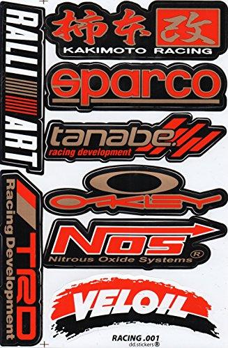 Sponsor STICKER Tuning Racing Motocross Autocollant feuille 27 x 18 cm