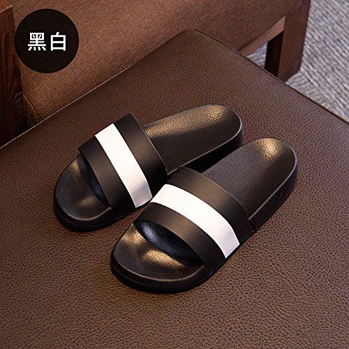 DogHaccd pantofole,Estate sandali donna moda, abbigliamento casual e versatile livello tra le donne e gli uomini e le donne spesso scarpe antiscivolo raffreddare in plastica ciabatte estate Nero2