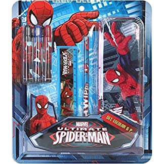 SET ESCOLAR 6 PIEZAS PLUMIER SPIDERMAN