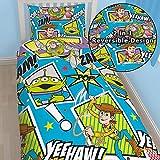 Disney Pixar Toy Story YEEHAW Boys Single Duvet Cover and Pillowcase Set (TSY)