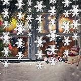 4 Packung 3D Hängende Schneeflocke Ornamente Girlande für Zuhause Weihnachtsfeiertag Party Dekorationen, 9,8 Füße jeder