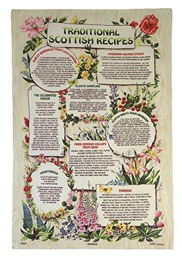 traditionell Schottisch Rezepte creme grün rot Blumenmuster Baumwolle Küchen Geschirrtuch Küche Geschirrtuch Creme