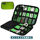 #3: Embernation High Grade Nylon Waterproof Travel Electronics Accessories Organiser Bag Case for Chargers Cables etc,Accessories Bag