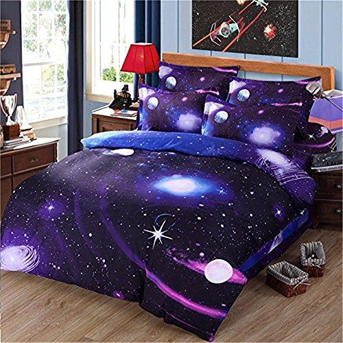Etelux Ropa de Cama de 4 piezas, Cama de tamaño de Queen, diseño de galaxia infinita, color #7