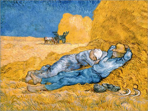 Posterlounge Lienzo 80 x 60 cm: The Siesta Vincent