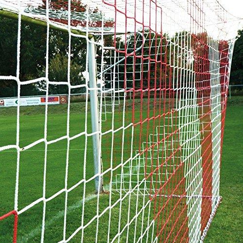 Donet Jugend - Fußballtornetz 5,15 x 2,05 m Tiefe oben 1,00/unten 1,00 m, zweifarbig, PP 4 mm ø, rot/weiß