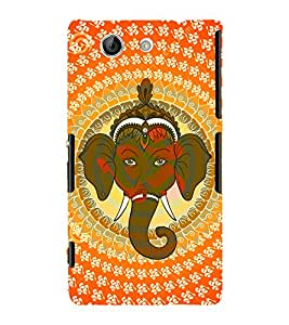 Tribal Om Ganesha 3D Hard Polycarbonate Designer Back Case Cover for Sony Xperia Z4 Mini :: Sony Xperia Z4 Compact