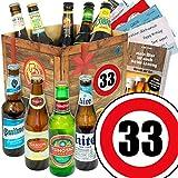 Geburtstagsgeschenke für Männer zum 33. | Geschenkset Bier mit Bieren der Welt