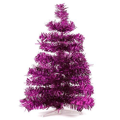 HAB & GUT (XM142) Albero di Natale artificiale / abete colorato FUCSIA metallizzato - Altezza: 60 cm