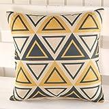 XYY Home Innovations Retro-Mode-Sofa Kissenbezug Kern 45cm enthält Bett Kissen Auto Lordosenstütze Bürostuhl 45cm *, 3