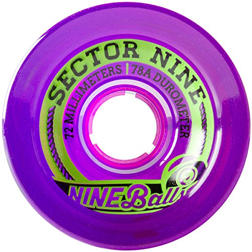 Sector 9TOP Regal Neun Kugeln Skateboard Rad, Lila, 72mm 75A