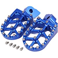 Colore : Blue Alluminio Poggiapiedi Pedane poggiapiedi Misura for PW50 PW80 PW 50 80 TW200 TTR90 TTR90E pozzo della Bici della sporcizia Motocross Motociclo NO-LOGO XFC-Jiao