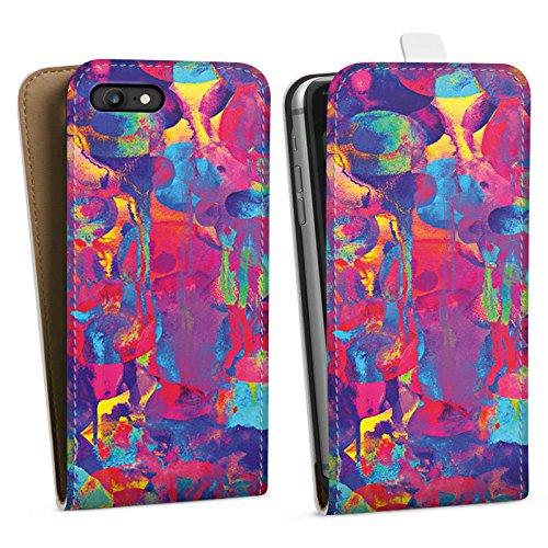 Apple iPhone X Silikon Hülle Case Schutzhülle Color Explosion Farben Bunt Downflip Tasche weiß
