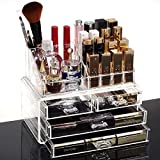 HQdeal Kosmetikorganiser Kosmetik-Organizer Makeup Sortierkasten mit Schubladen Acryl