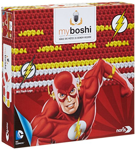 Noris-Spiele 606311366 - Myboshi Superhelden  - Flash, (Superheld Flash)