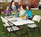 Lifetime Campingtisch Gartentisch Klapptisch Falttisch Faltbarer Tisch Campingmöbel Markttisch Flohmarkttisch Koffertisch 182x76x74 cm -