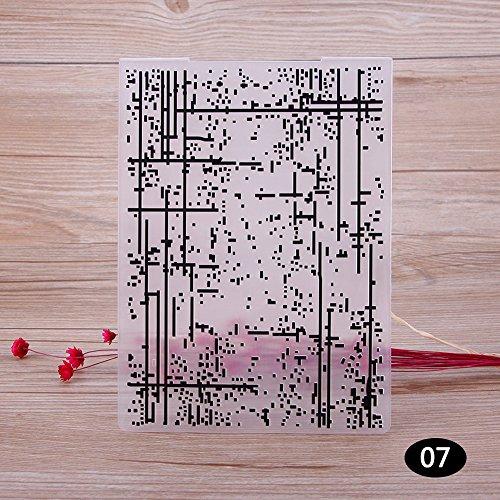 Geprägte Karte Fall (rungao Lovely Muster Kunststoff Prägeschablonen für Heimwerker Karte machen Dekoration Supplies 07)