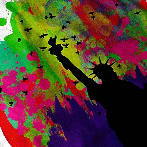 Bunt Freiheit Kunst USA USA Spritzen Damen Schwarz S-2XL Muskelshirt | Wellcoda Weiß