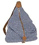 SIX 'Trend' blau weiße Damen Handtasche Beutel...