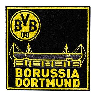 Borussia Dortmund Aufnäher, Patch, Aufbügler Stadion BVB 09 - Plus Lesezeichen I Love Dortmund