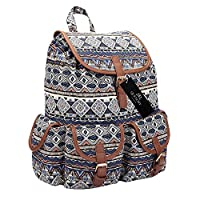 Ladies Girls Backpack Casual Daypack Bag for School 20 Litre 36cm x33 x18 QL816M