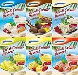 Eis pulver (0,41 Kg - 21,44€/Kg) fuer Mixer oder Eismaschiene, Milch eis, Softeis, Speiseeis 6 er Startset