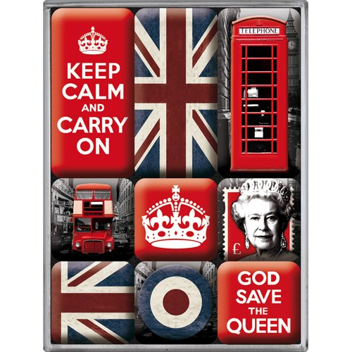 Nostalgic-Art 83059 United Kingdom, Magnet-Set (9teilig)