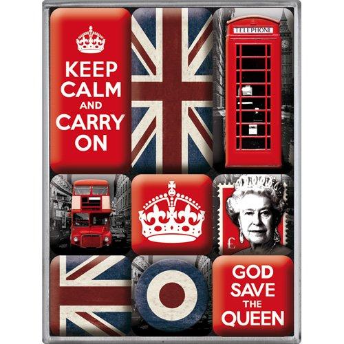 unbekannt-set-9-di-calamite-per-frigorifero-del-regno-unito-keep-calm-god-save-the-queen-bandiere-co